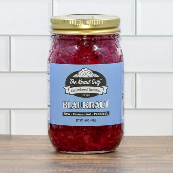 Jar of Blaukraut Sauerkraut by The Kraut Guy