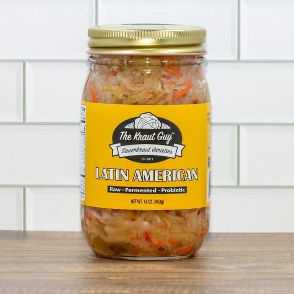 Jar of Latin American Sauerkraut by The Kraut Guy