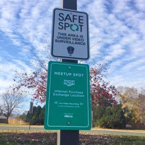 Safe Swap Spot parking lot signs