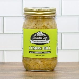 Jar of Lemon Dill Sauerkraut by The Kraut Guy