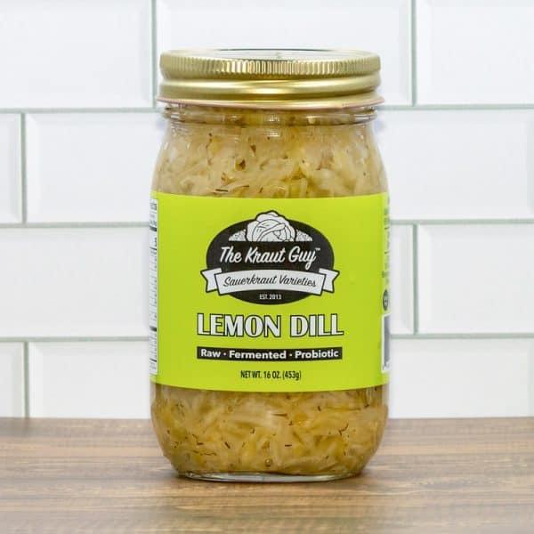 Jar of Lemon Dill Sauerkraut by The Kraut Guy